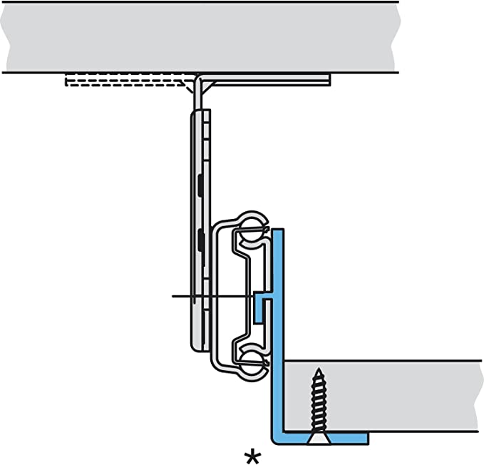 ACCURIDE 2109 Keyboard Extension Length 450 mm Galvanised Steel