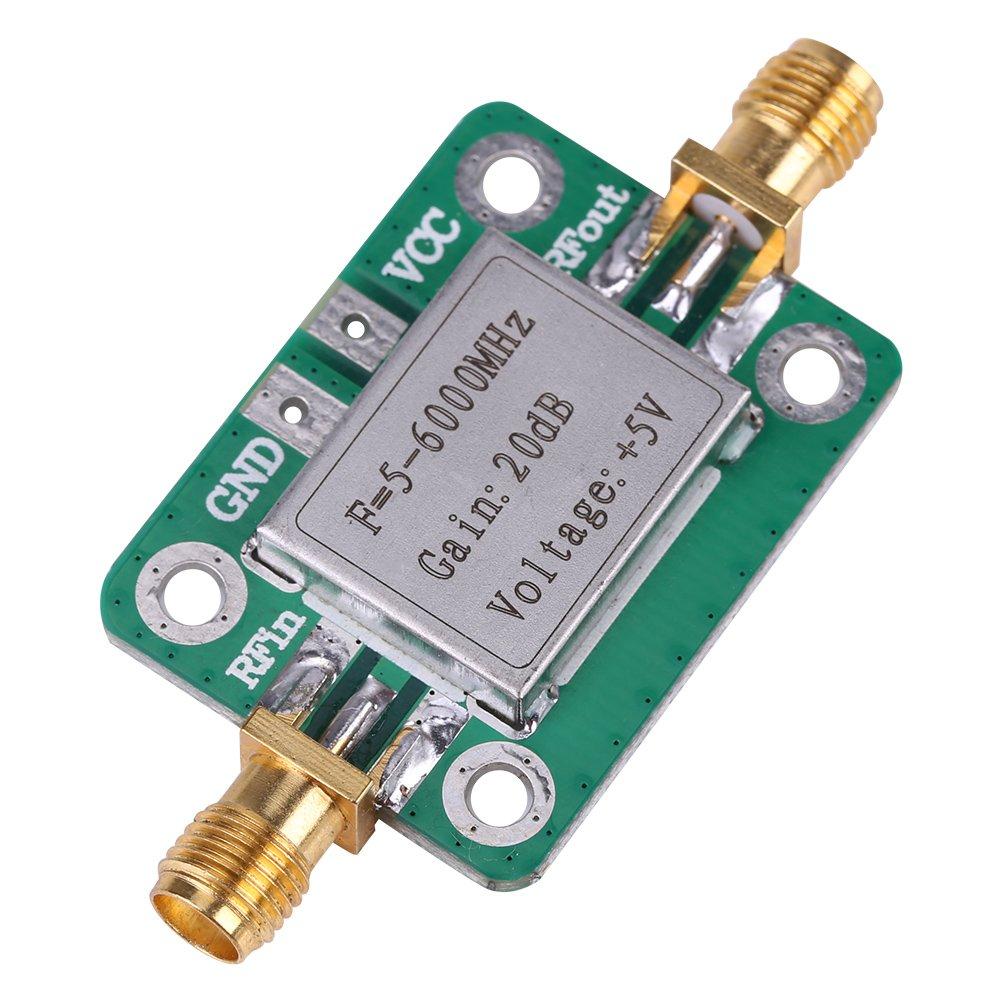 Amplificador de RF Mó dulo, Akozon 5-6000MHz RF Amplificador de Banda Ancha Mó dulo de Radio 20 dB ancha RF VHF UHF Akozon 5-6000MHz RF Amplificador de Banda Ancha Módulo de Radio 20 dB ancha RF VHF UHF