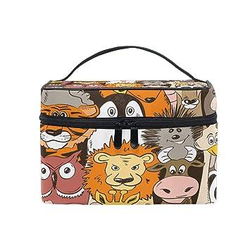 Amazon.com: Bolsa de cosméticos colorida y divertida con ...
