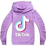 Tik Tok hoodie för flickor, utomhus, sport, sweatshirt, unisex, barnkläder, ytterkläder, lila, 11-12 år