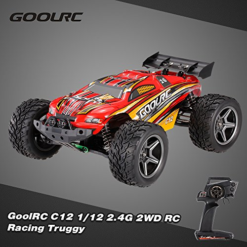 (Walmeck GoolRC C12 2.4GHz 2WD 1/12 35km/h Brushed Electric Monster Truck Racing Truggy Off-Road Buggy RC Car RTR)