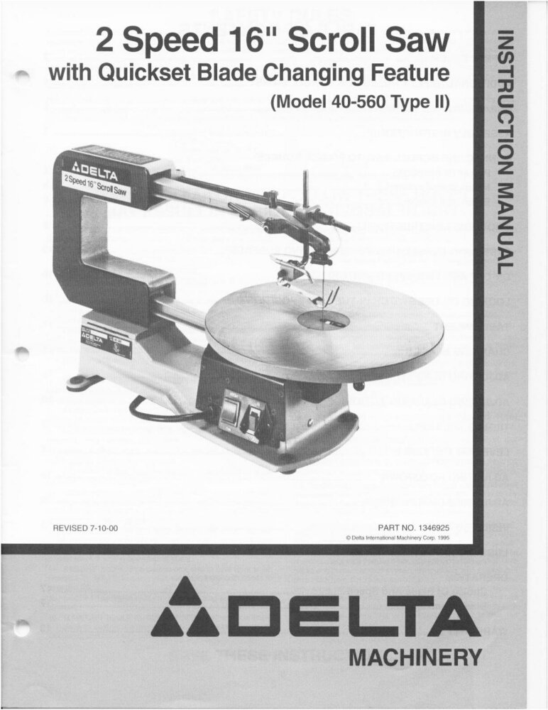 How to install a delta scroll saw blade gallery wiring table and delta 40 560 2 speed 16 scroll saw instruction manual plastic comb delta 40 560 2 greentooth Choice Image