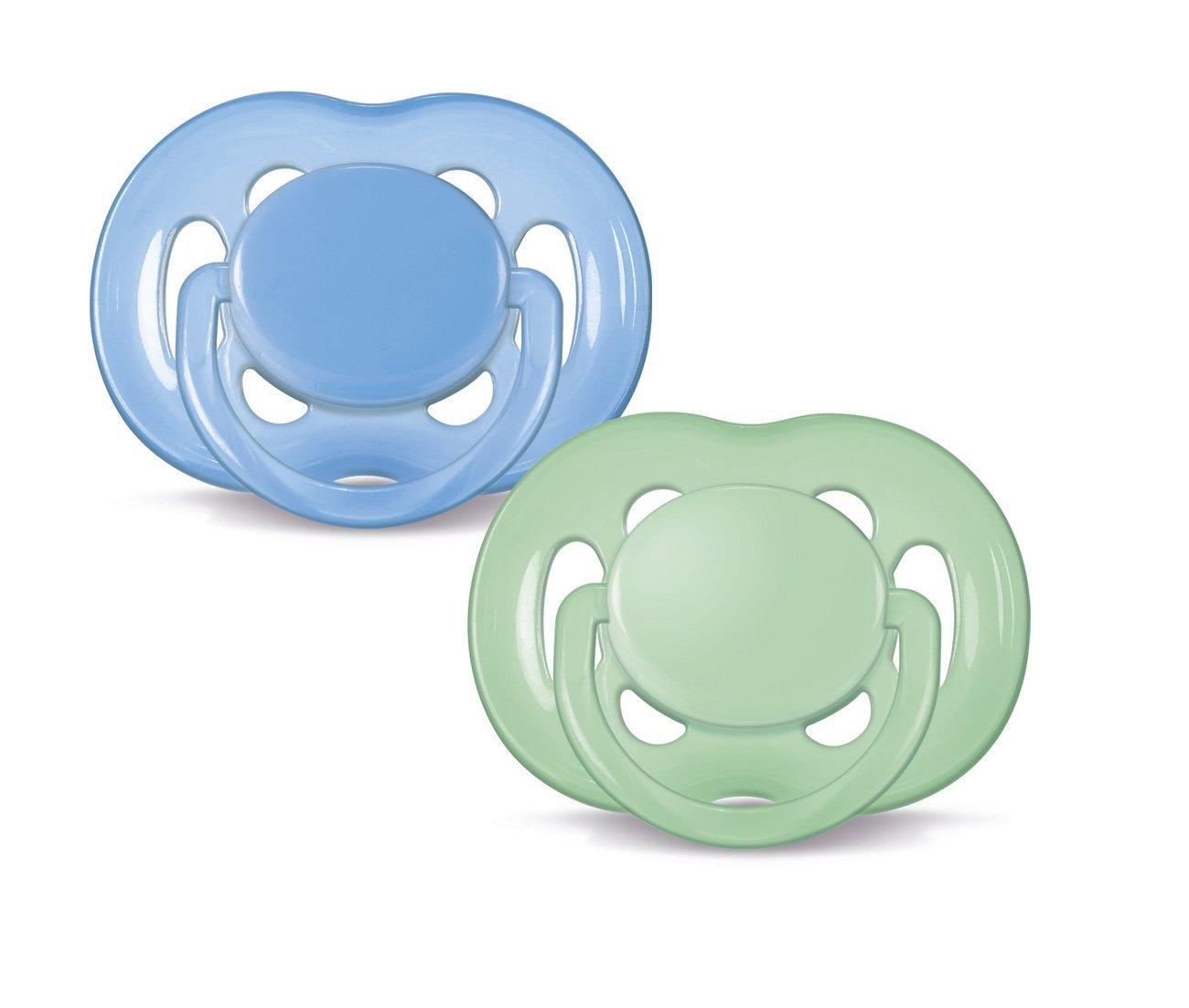 Amazon.com : Freeflow Chupete BPA, libre azul / verde, 6-18 ...