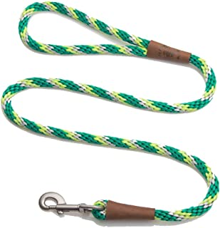 product image for Mendota Pet Snap Leash - British-Style Braided Dog Lead, Made in The USA - Ivy, 3/8 in x 4 ft - for Small/Medium Breeds