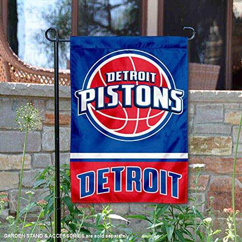 WinCraft Detroit Pistons Double Sided Garden Flag