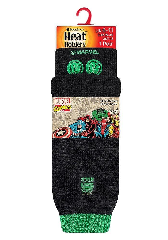 HEAT HOLDERS Uomo adulti e ragazzi Marvel calzini antiscivolo termici in 4 disegni