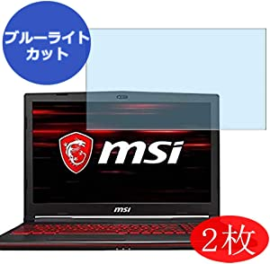"""【2 Pack】 Synvy Anti Blue Light Screen Protector for MSI GL63-9RC-1050JP 15.6"""" Screen Film Protective Protectors [Not Tempered Glass]"""