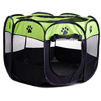 Authda Parque de Juegos Portátil de 8 Paneles para Perros y ...