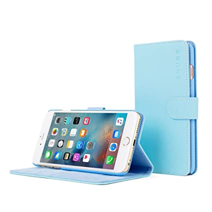 new concept a8b6c 2bd61 iPhone 6 Plus Case, Snugg® - Baby Blue Leather iPhone 6: Amazon.co ...
