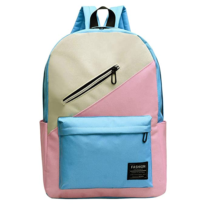484eab5de4 JERFER Zaino Zaino Scuola Media Borsa A Tracolla Da Viaggio Per Studenti Di  Colore Moda Zaino In Nylon: Amazon.it: Abbigliamento