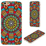 iPhone 6s Case,iPhone 6 Case,VoMotec [Floral series]Shockproof Anti-scratch Slim Flexible Soft TPU Protective Skin Cover Case For iPhone 6 6s 4.7 inch,oriental ethnic orange blue orange mandala