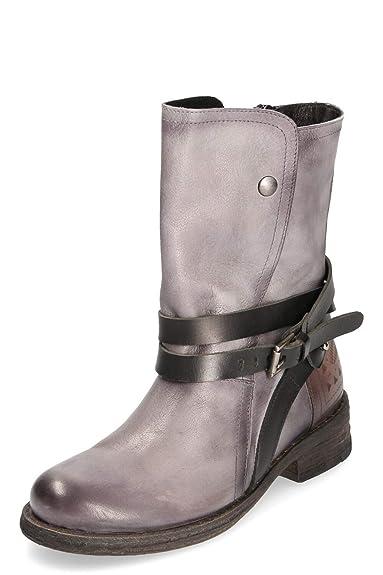 3cfcce2ab64b55 Felmini Damen Biker Boots Cowboy Stiefel Grau Gr. 37  Amazon.de ...