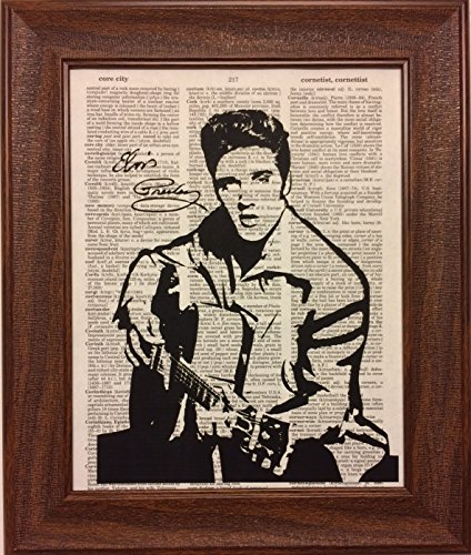 - Elvis Presley Dictionary Book Page Artwork Print Picture Poster Home Office Bedroom Nursery Kitchen Wall Decor - unframed