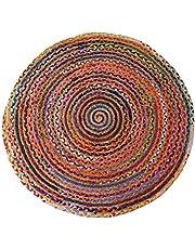 Chindi jute vloerkleed voor woonkamer slaapkamer decor Boho handgemaakte geweven gevlochten tapijten