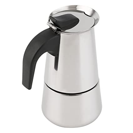 Dooret Máquina para Hacer café Espresso Italiano de 4 Tazas Moka Express - Estufa de la