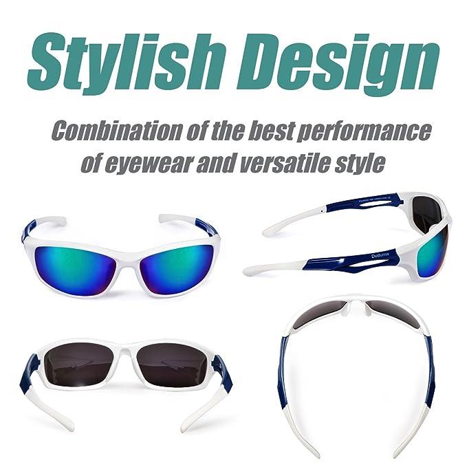 8f70af735a Amazon.com  Duduma Polarized Sports Sunglasses for Men Women Baseball  Running Cycling Fishing Driving Golf Softball Hiking TR90 Unbreakable Frame  ...