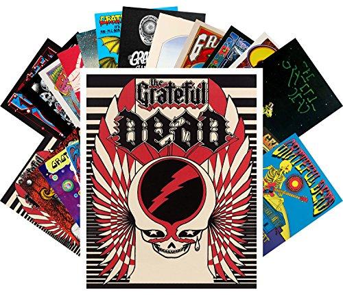 Dead Vintage Poster (Postcard Set 24pcs Grateful Dead Vintage Posters Movies Psychedelic Artwork)