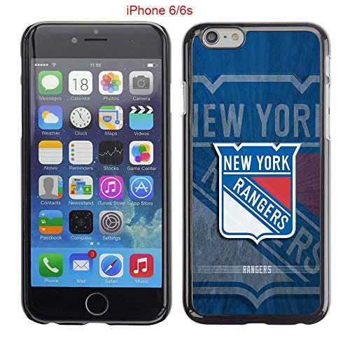 iPhone 6 Case, iPhone 6S Cases, NY Rangers Hockey Team logo 32 Drop Protection Never Fade Anti Slip Scratchproof Black Hard Plastic Case (Player Record Sherwood)