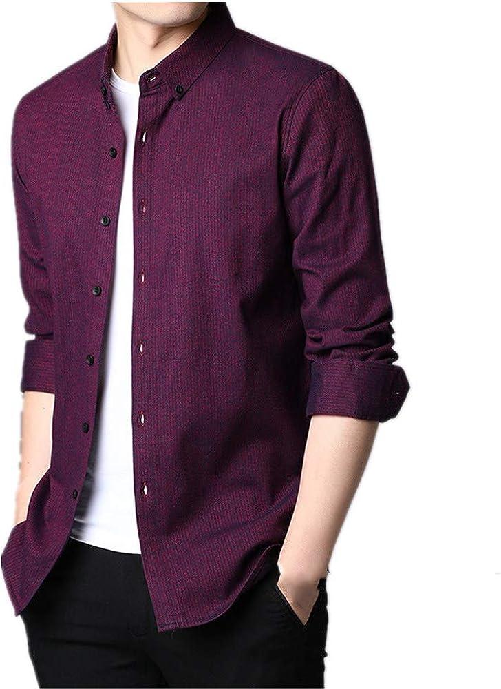 U/A - Camisa de manga larga de algodón para hombre en otoño e ...