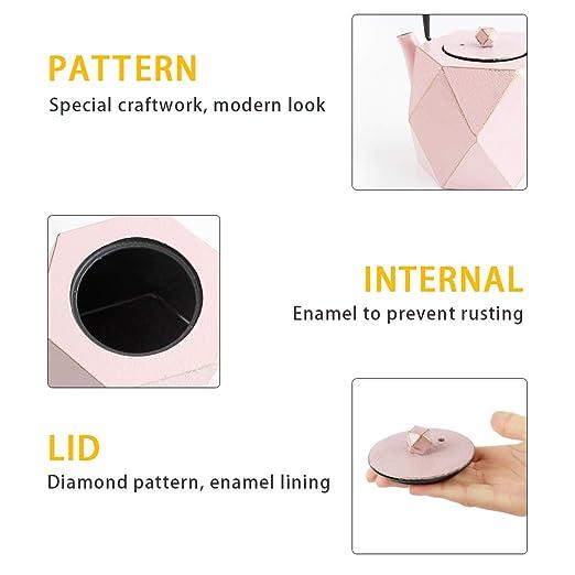 Amazon.com: Tetera de hierro fundido japonés Toptier con ...