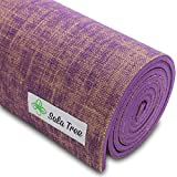 Sala Tree: Serenity – Exclusive Natural Jute Yoga Mat, Extra Long 72″, Extra Thick 8 mm, Non Slip, For Any Type of Yoga, Pilates, or Exercises! (Purple)
