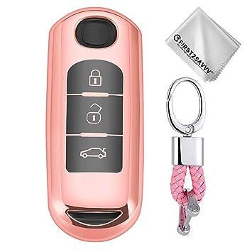 Rosado Funda para Llave Smart Key para Coche Mazda CX-9 CX-7 ...