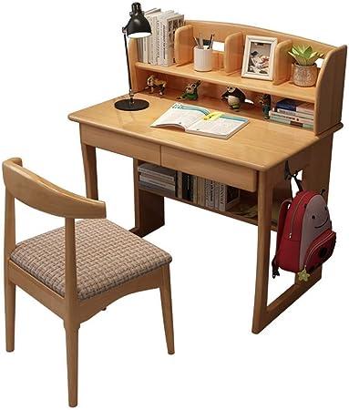 Juego de mesa y silla para niños, Estudio sólido simple de madera Juego de mesa for