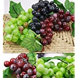 Hot Bunch Lifelike MG Artificial US Grapes Plastic Fake Fruit Home Decoration