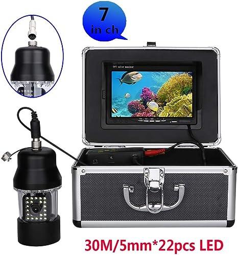 GW 30m Profesional Pesca subMarina Video cámara buscador de Peces 7 Pulgadas Color Pantalla Impermeable 22 Leds 360 Grados rotación 1000 líneas de TV cámara: Amazon.es: Deportes y aire libre