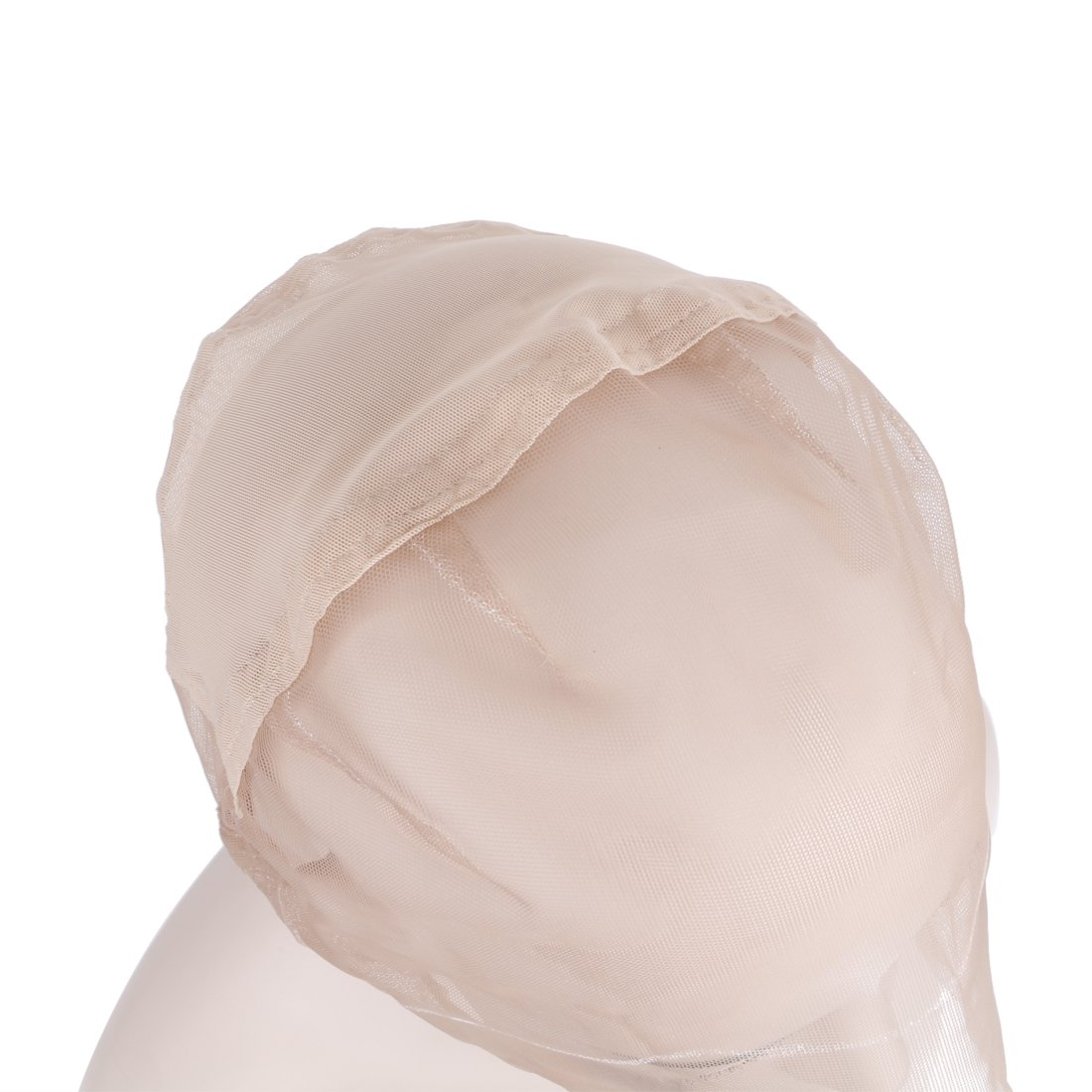 Creamily Professional Swiss Lace Wig Caps for Making Wig with Adjustable Straps Medium Size 22.5inch (Full Lace Cap, Light Brown Color) by Creamily (Image #4)