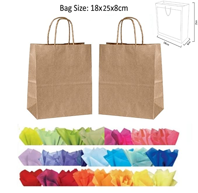 GREEN MATT LAMINATED PARTY GIFT BAGS BIRTHDAY PRESENT BAG AND x2 TISSUE PAPER
