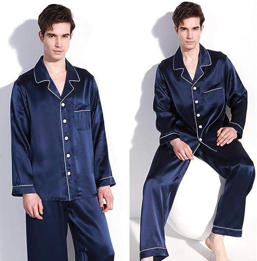 Zara Lew Pure Silk - Pijama para Hombre, Marine, XX-Large: Amazon.es: Hogar