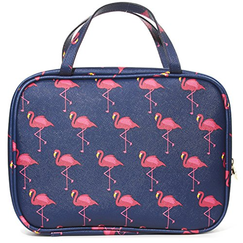 Travel Case/ beauty organizer (Flamingo) (1 Hr Travel Charger)