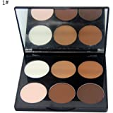 BOBORA Make-up Puder kompakt Concealer Bleaching Make-up Pflege Highlight Kontur-Palette von Kosmetik-Puder