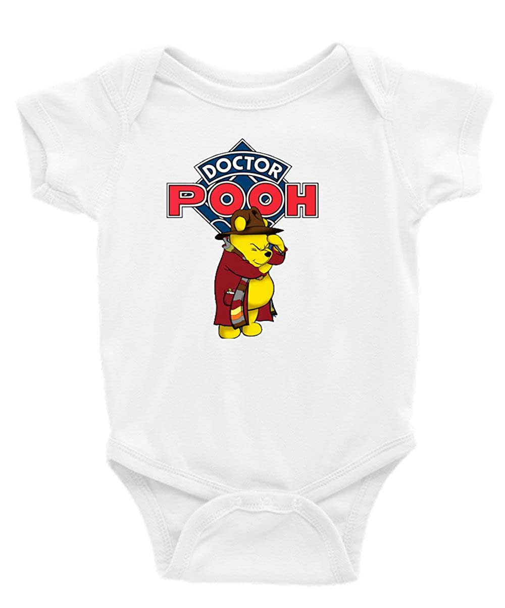 Dr. Pooh Winnie the Pooh Dr. Who Short Sleeve Unisex Onesie