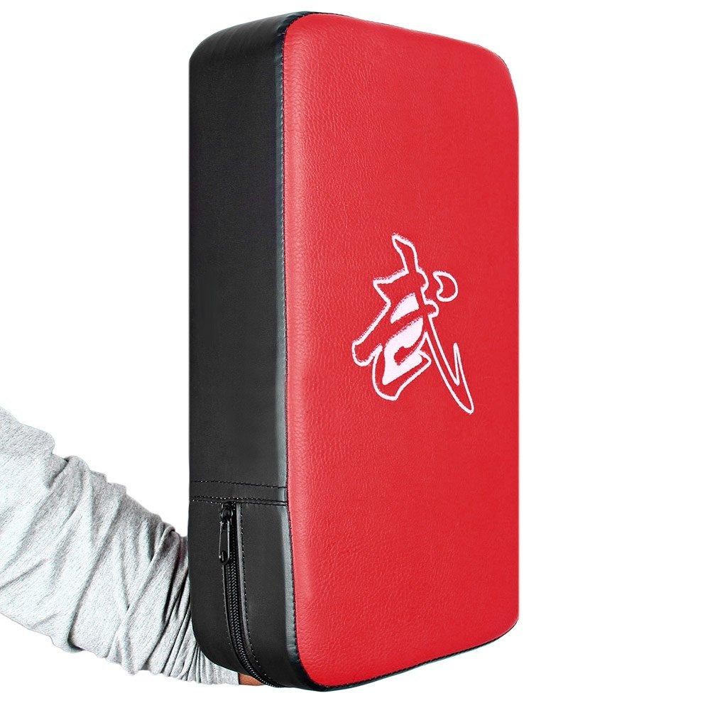 PU Leather Rectangle Strike Punching Kicking Pad Arm Shield Target for Focus Training of Boxing Karate Muay Thai Kick UFC MMA TKD Naisidier