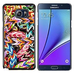 EJOOY---Cubierta de la caja de protección para la piel dura ** Samsung Galaxy Note 5 5th N9200 ** --CARAMELO COLORIDO