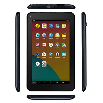 Haehne 7 Inches Tablet PC - Google Android 6 0 Quad Core, 1024 x 600  Screen, 2 0MP 0 3MP Dual Camera, 1G RAM 16GB ROM, 2800mAh, WiFi, Bluetooth