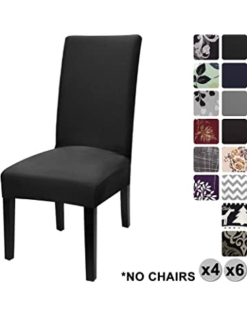 YISUN Modern Stretch Dining Chair Covers Removable Washable Spandex Slipcovers For High Chairs 4 6