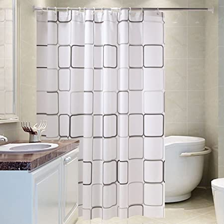 FOKN PEVA Material Waterproof Shower Curtains Bathroom Partition Easy To Install Bath Curtain80
