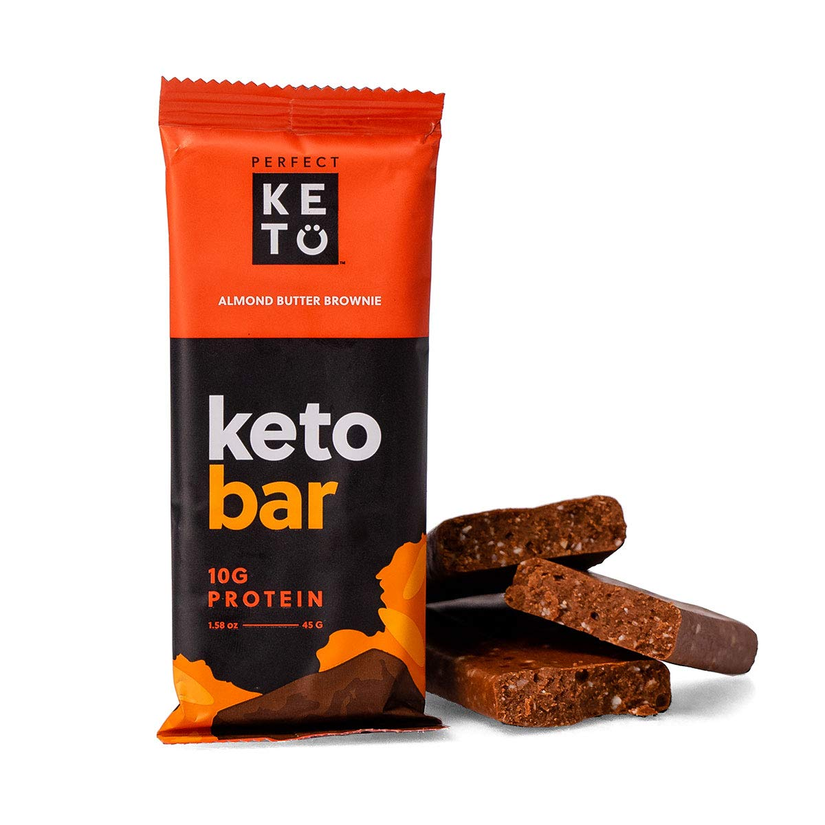 Perfect Keto Bar, Keto Snack (12 Count), No Added Sugar. 10g of Protein, Coconut Oil, and Collagen, with a Touch of Sea Salt and Stevia. (12 Bars, Almond Butter) by Perfect Keto