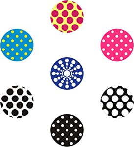 miButton AHB00103 miButton Home Button Sticker for iPod, iPhone, & iPad - Daring Dots - 1 Pack - Charm - Retail Packaging - Daring Dots