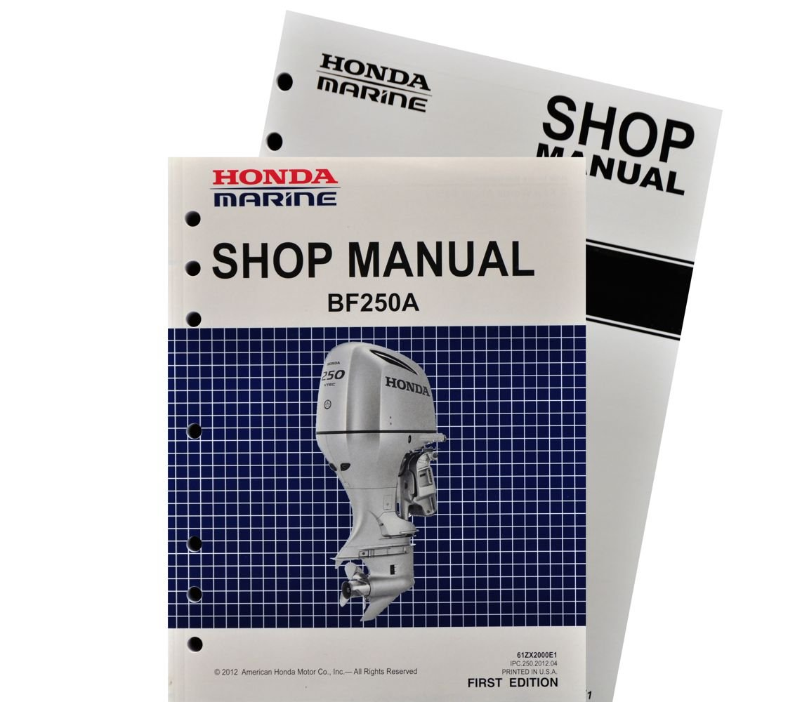 Honda Bf250 Marine Outboard Service Shop Repair Manual Bf15 Wiring Diagram Lawn And Garden Tool Replacement Parts Sports Outdoors