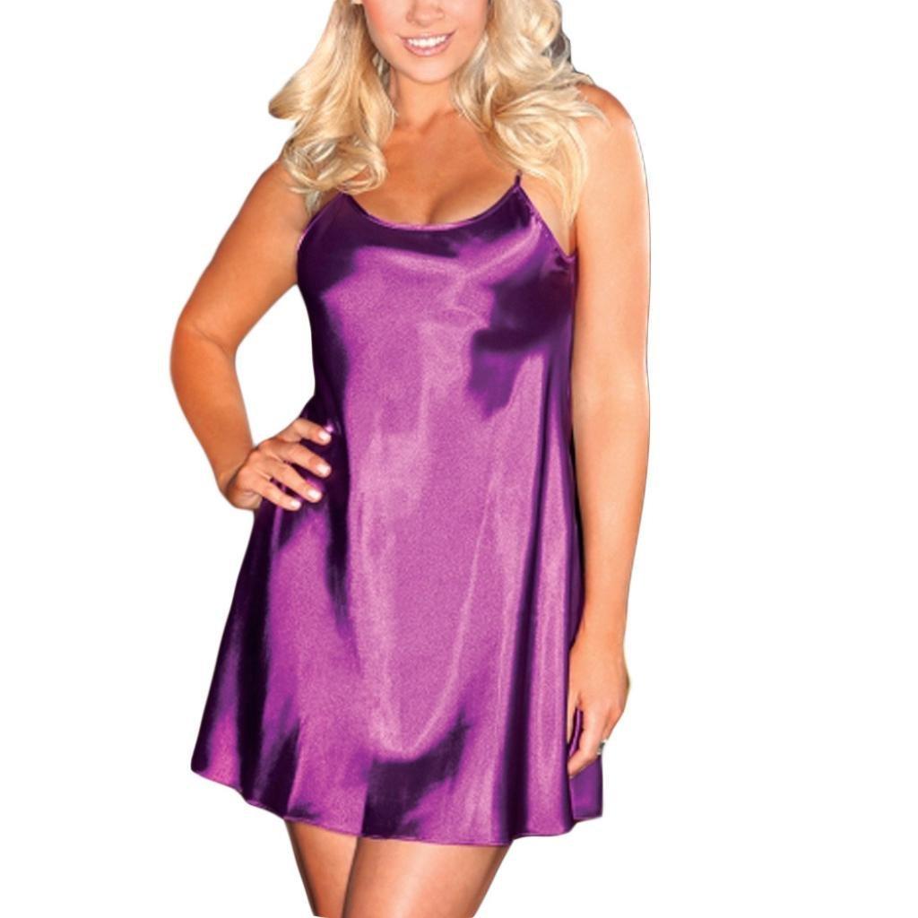 Lencería Mujer Erotica,❤ Modaworld Vestido de Noche para Mujer Tallas Grandes Lencería Babydoll Ropa Interior para Dormir Tentación Camisón Mini ...