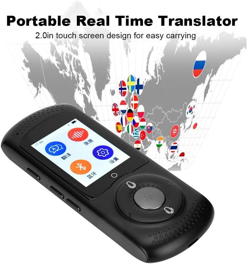 Tonysa /Übersetzer Sprache,Portable WiFi Echtzeit /Übersetzungsger/ät,Intelligenter /Übersetzer Voice Translator mit 42 Sprachen//2.0 Zoll Touchscreen f/ür Lernen//Gesch/äftsreisen Schwarz