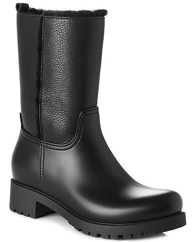 a869799ef Amazon.com | L.K. Bennett Women's Warren Short Wellie Boots, Black ...
