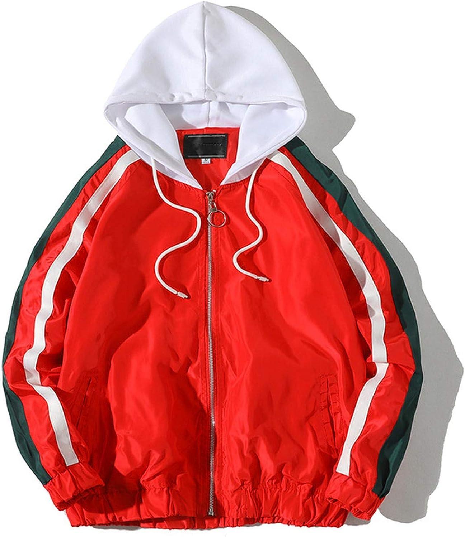 2019 Autumn Mens Jackets Hip Hop Coats Male Jackets Streetwear Outerwear,White,XXL