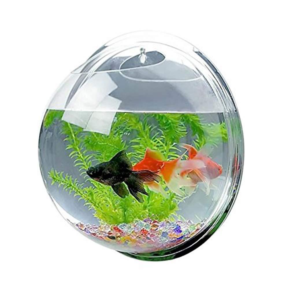 ZDJR Wall Fish Bubble Wall Hanging Bowl Clear Acrylic Vase Flower Plant Pot Aquarium, 38 cm/15 Inch,Mirrorface by ZDJR