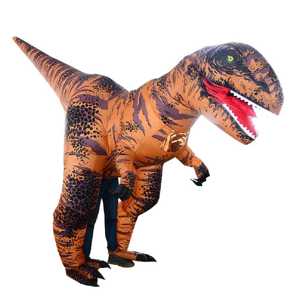 Inflatable Costume Dinosaur T-Rex Stegosaurus Gorilla Christmas Halloween Cosplay Blow up Outfit Xmas Fancy Dress (Velociraptor Dinosaur)