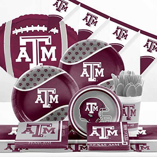 Ncaa Party Kit (Texas A & M Ultimate Fan Party Supplies Kit)